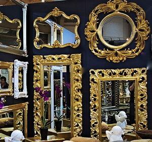 Großer Barock Wandspiegel Flurspiegel 149x89 Cm Standspiegel Spiegel