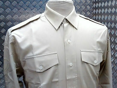 Genuine British Army All Ranks Barrack & No2 Fad Dress Shirt Fawn Cadet Size New Surplus Militaria