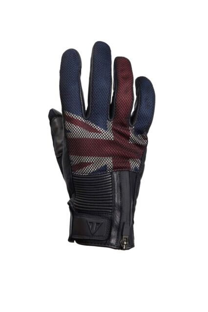 GENUINE Triumph Motorcycles Union Flag Mesh Leather Gloves NEW