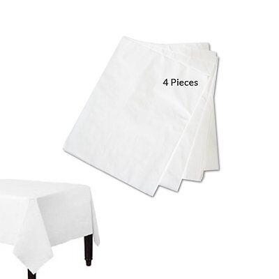 White Paper 90 cm x 90 cm 3 Disposable Table Cloth Paper Covers