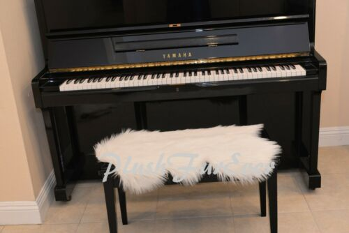 """20/"""" x 30/"""" FAUX FUR Warm White A22 PIANO Seat PADDING Keyboards Accessories New"""