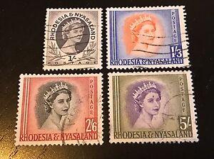 QEII Rhodesia & Nyasaland Scott 149 150 152 153 Used