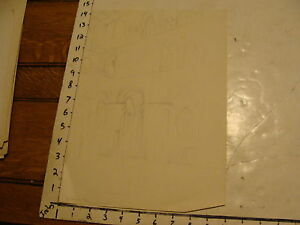L.H. HART art: WWII era--sketch Winchester Cathedral 5 Teamsoft ??
