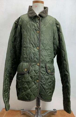 Barbour Green Quilted Jacket Girls Size 14 15