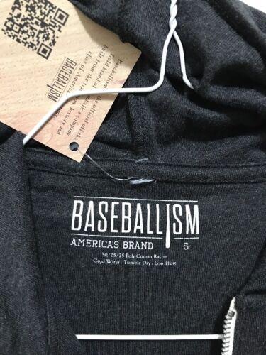 Antracite Da Uomo Mlb Con Jersey Grigio Baseballism Baseball Cappuccio Felpa Zip qw87dq