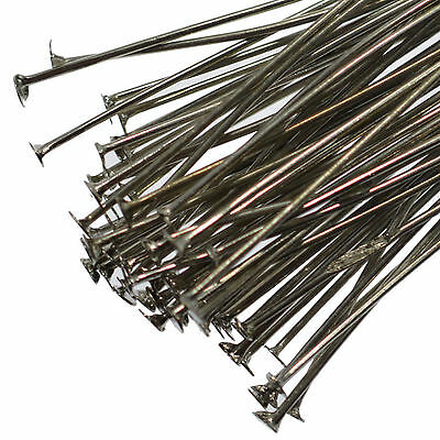 250 Antique Silver Flat Headpins 40mm Jewellery Making Craft Findings