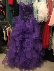 Beautiful Quinceanera Dress size 2 purple