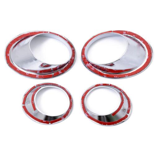 For Nissan Qashqai//Dualis 2007-2009 Front Rear Fog Light Lamp Bezel Cover Trim