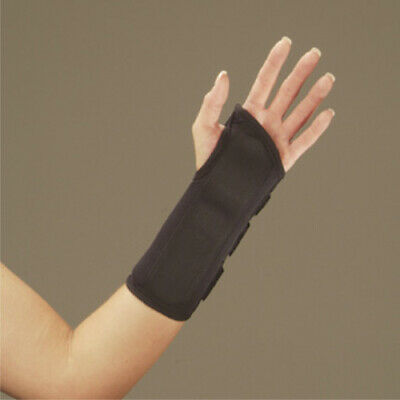 Black Wrist Splint A120107- New In Box! Large Deroyal