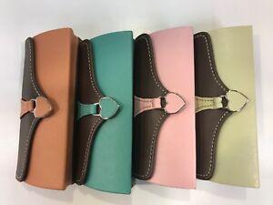 Handbag Clutch Bag Style faux leather Spectacle Glasses Case heart clasp Retro