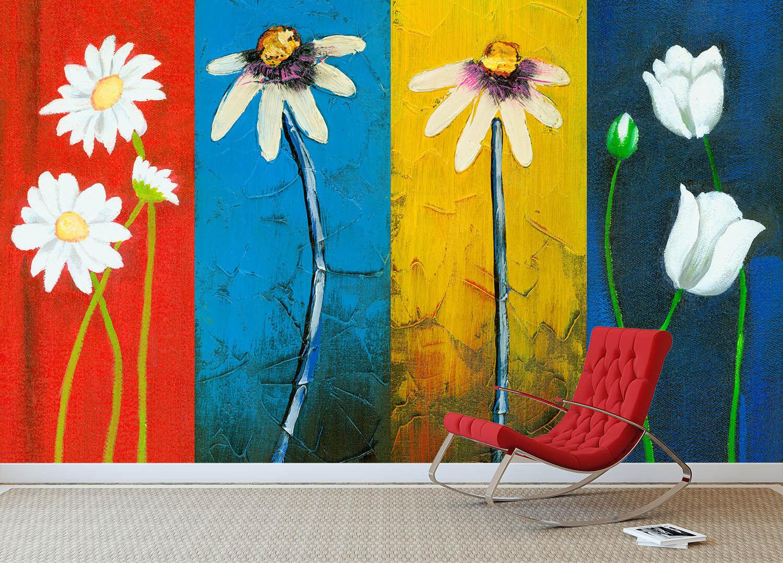3D Graffiti Fleur 9 Photo Papier Peint en Autocollant Murale Plafond Chambre Art