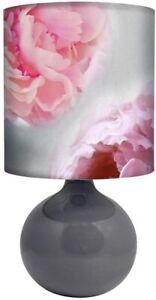 Pink-Floral-Print-Table-Lamp-Flower-Print-Bedside-Desk-Lamp