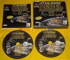 STAR WARS REBEL ASSAULT II 2 Ps1 Versione Ufficiale Italiana 1ª Ed »»»» COMPLETO