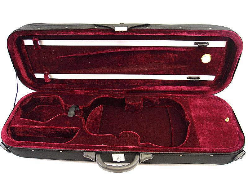 VC-550BK Enhanced 4 4 Foamed Oblong Shape Violin Case+ Free violin String