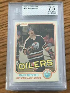 1981-O-Pee-Chee-118-Mark-Messier-BGS-7-5-NM