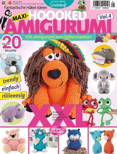 Hoooked /'revista ganchillos XXL Amigurumi/' nuevo elefante rinoceronte al niño para hacer