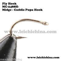 500pc 16 (9mm/5mm) Midge-caddis Pupa Straight-eye Fly Tying Hooks