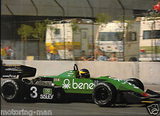 TYRRELL 011 1983 MICHELE ALBORETO BENETTON US GP WEST MASSIVE PHOTOGRAPH FOTO