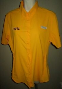 fcb836aff9884 Columbia PFG LSU TIGERS Womens TOP M Shirt SPORTSWEAR Medium ...