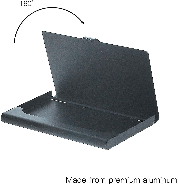 Business Card Holder Professional Aluminum Alloy Name Card Case Black Wallet US