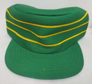 2987cb173a929 Details about PILLBOX GREEN BASEBALL USA STYLE HAT CAP VINTAGE RETRO MENS  TRUCKER SNAPBACK