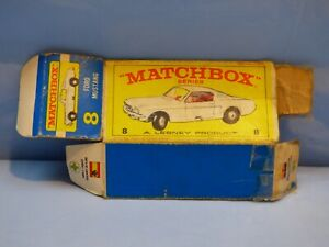 Original-Vintage-vacio-Matchbox-Caja-para-8-Ford-Mustang-Coche-de-juguete