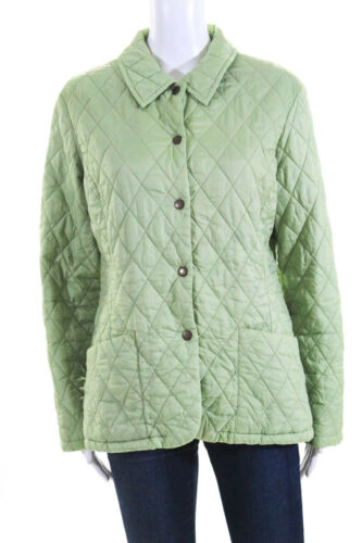 Barbour Womens Long Sleeve Button Down Puffer Coa… - image 1