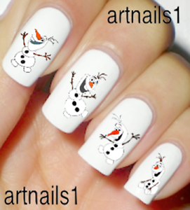 Frozen-Disney-Olaf-Nail-Sno-Art-Water-Decals-Stickers-Manicure-Salon-Mani-Polish
