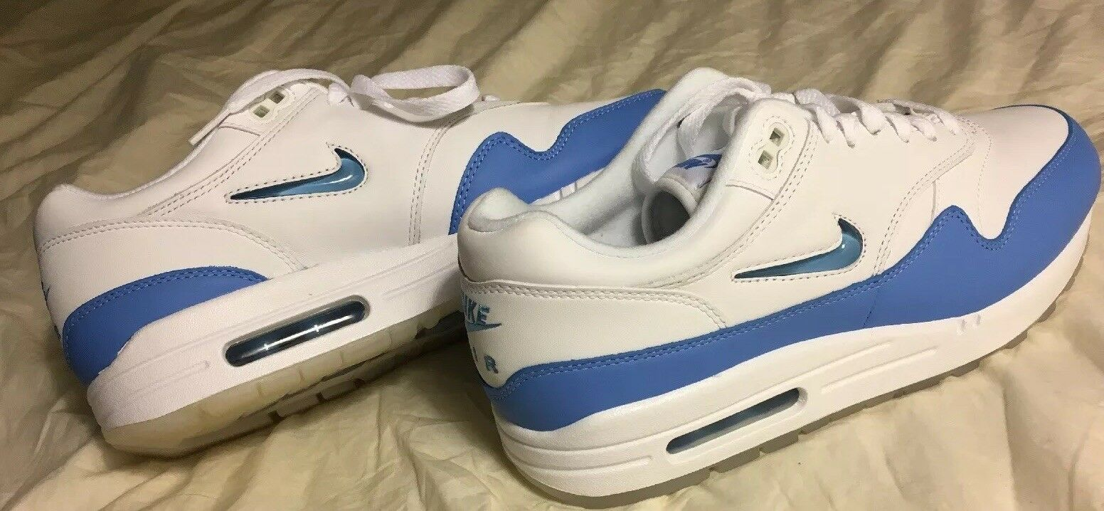 1c60023211e NIKE AIR MAX 1 PREMIUM JEWEL WHITE UNIVERSITY blueeE NIKELAB TZ 918354 102  SZ 8