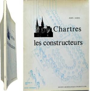 Doux Chartres Les Constructeurs T.1 1977 John James Cathédrale Porche Statue Méthodes