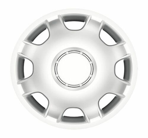 "4x SILVER 15/"" pollici DEEP DISH Van rifiniture ruota Hub Caps Per Renault Master"