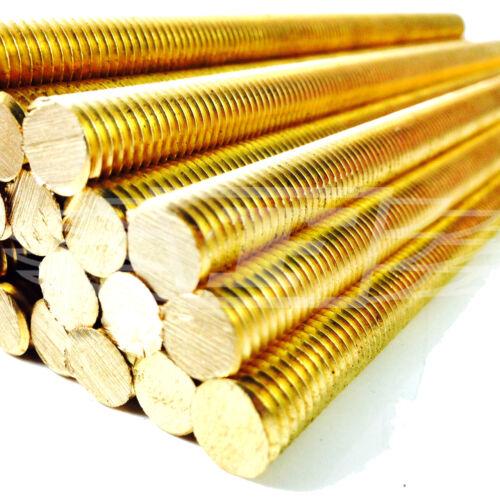 1 metro de latón macizo Varilla Roscada Bar salpican DE ALLTHREAD M3 M4 M5 M6 M8 M10 M12