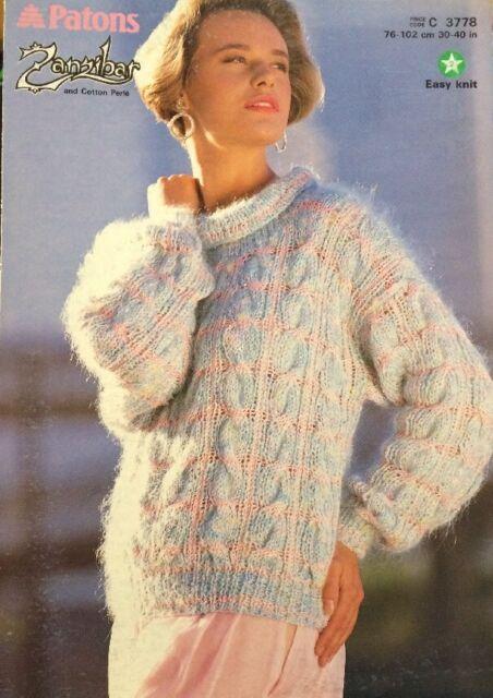 Patons Colour Works Aran Knitting Pattern Book 3778 Garments & Toys ...