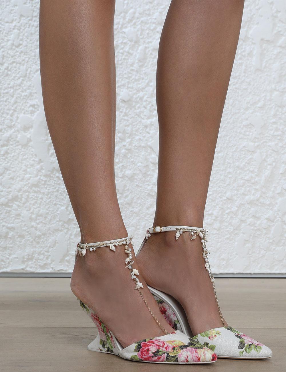 Zimmermann Runway Jeweled Wedge Heel shoes shoes shoes 0fdeee
