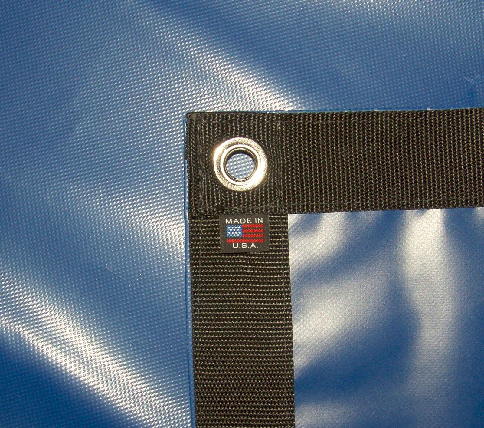Tarp, Heavy Duty, bluee, Waterproof, 18 Oz. Vinyl  w  Reinforced Edges  wholesale store