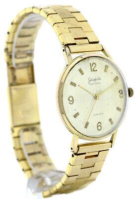 Gub Glashütte Spezimatic Kal. 74 Vintage Armbanduhr Goldplaque Ddr Ostalgie 36mm GroßEr Ausverkauf