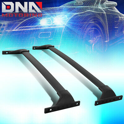Black Aluminum Roof Rack Cross Bars Fit 2015-2018 Toyota Highlander Top Side Rail Cargo Carries