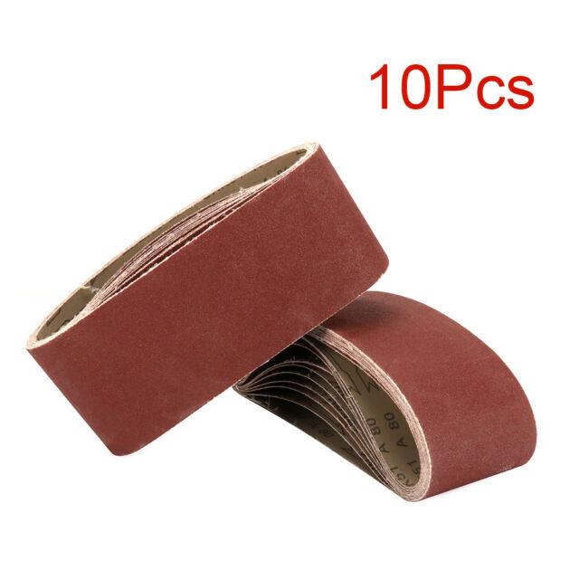 5pcs 4x36 Inch Abrasive Sanding Belts Power Finger File Sandpaper 40-320 Grits