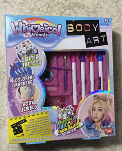 Whimsical By Wengie Body Art Glitter Tattoos Surprise Unicorn Youtube 653899035273 Ebay