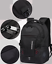 miniature 2 - New Mens Black Oxford School Backpack Satchel Laptop Casual Travel Bag 15""