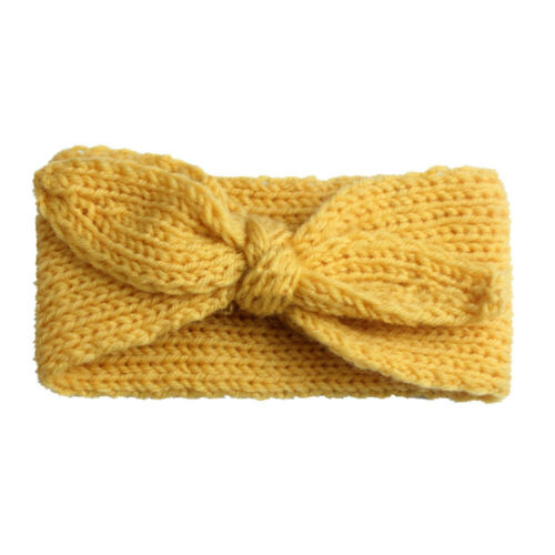 Baby Toddler Girls Headband Crochet Knitted Bow Turban Hair Kid Hair Band Wear
