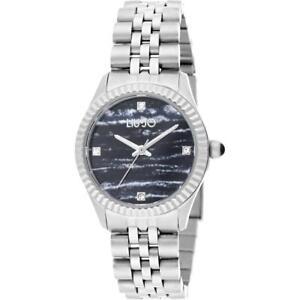 Orologio-Donna-LIU-JO-Luxury-TINY-TLJ1305-Bracciale-Acciaio-Nero-Swarovski