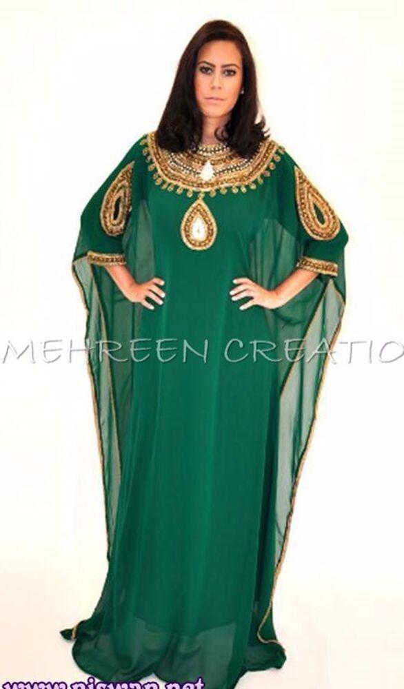 2018 Vestido Élégant Main Marocain Pour Femmes Georgette Farasha Robe 793