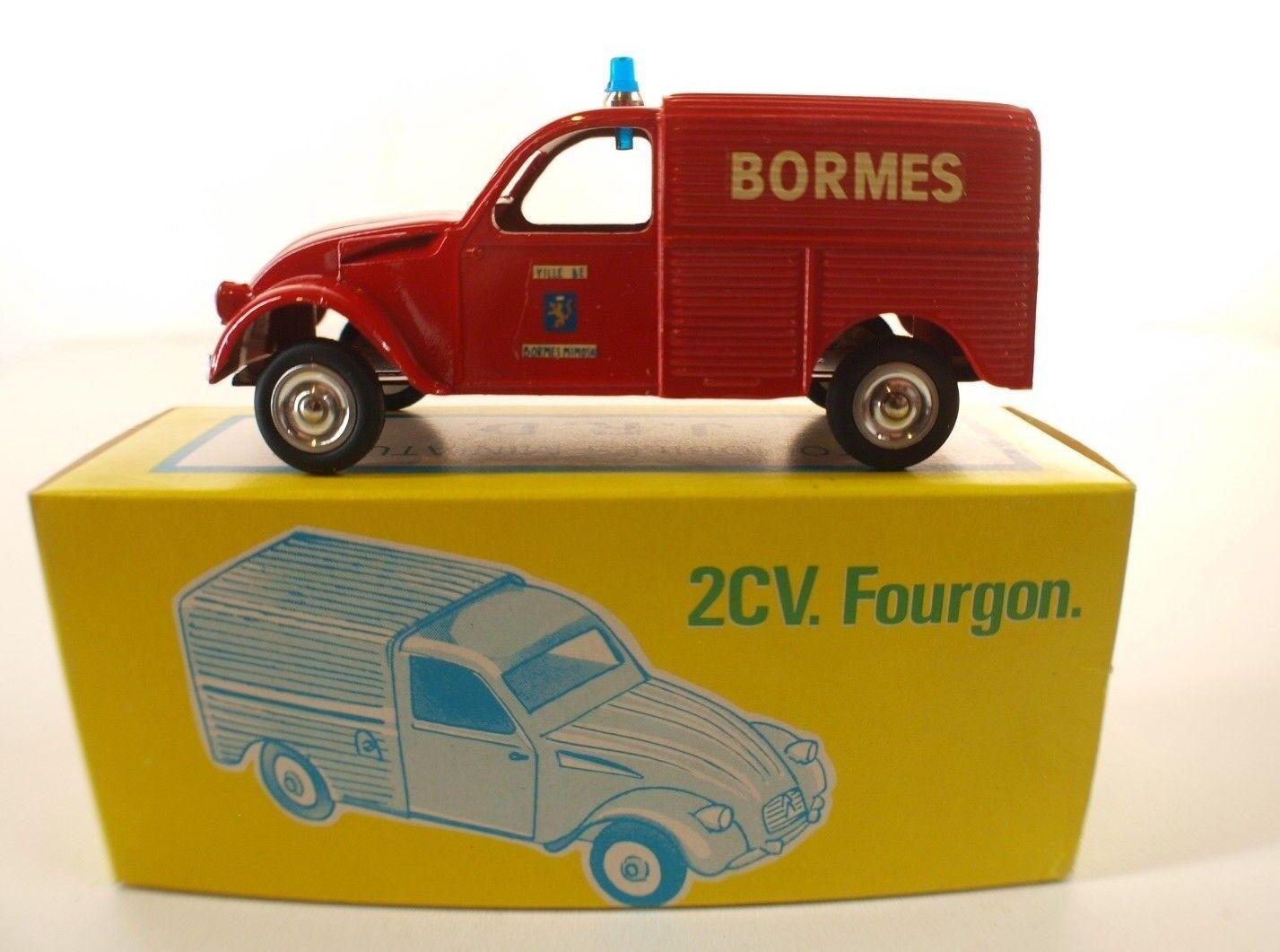 JRD n° 230 Citroën 2CV Fourgonnette BORMES les Mimosas 1985 neuf en boite 1 43