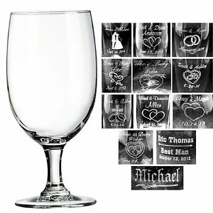 image is loading personalized 16 oz wine glasses custom wedding party
