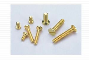 10-Miniatur-Senkschrauben-Messing-M-1-6