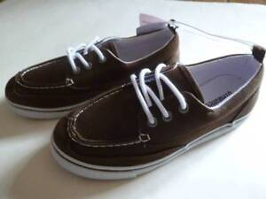 Gymboree-Spring-Dressy-Collection-Brown-Deck-Shoes-Youth-9-11-12-13-2-NEW
