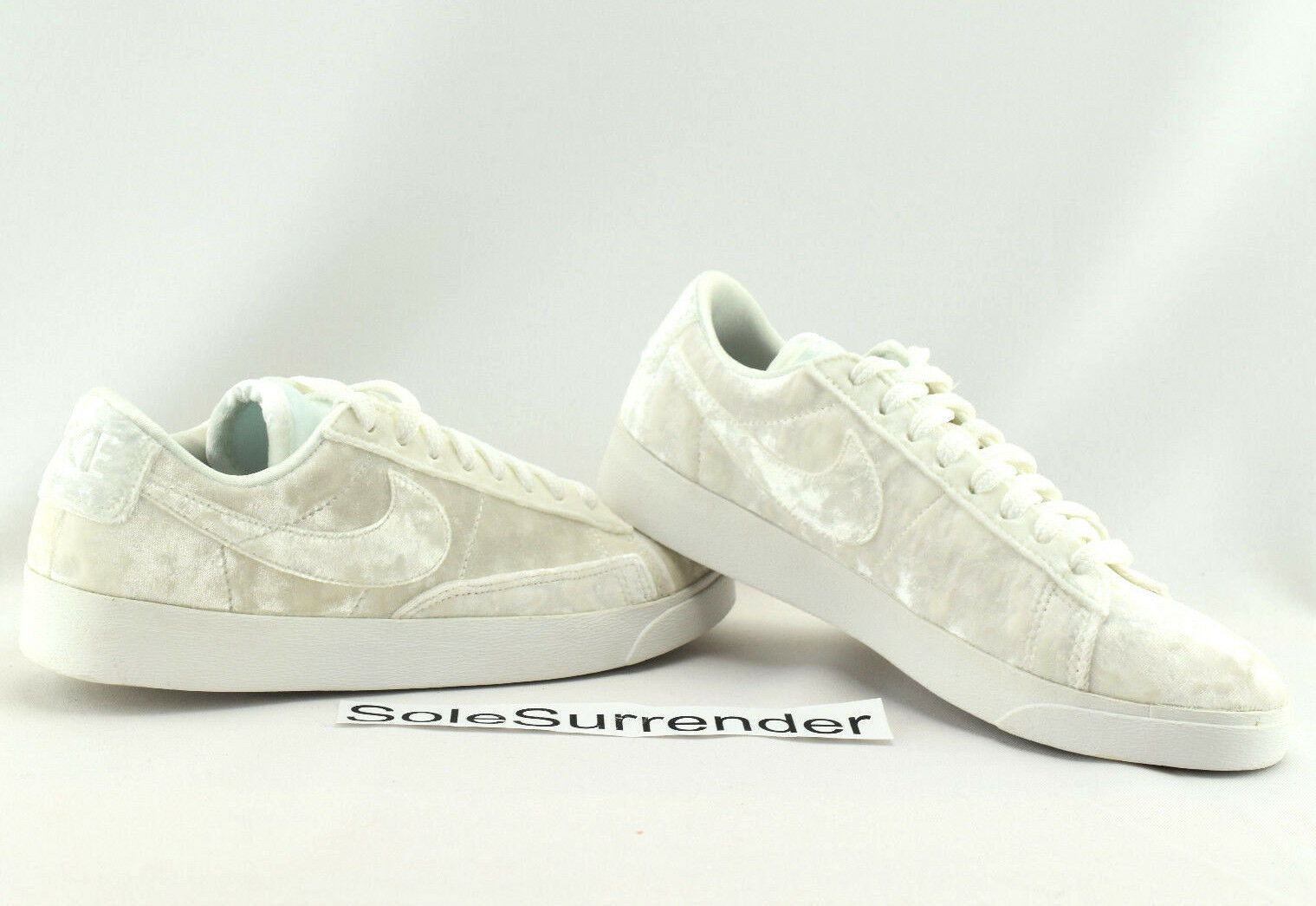 Women's Nike Blazer Low Lux - SIZE 7.5 - LX Triple Whiteout Velvet