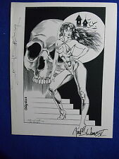 HARD TO FIND!~ VAMPIRELLA SIGNED LTD. PRINT #224/250 ~2X SIGNED! ~CHANG & WEEMS