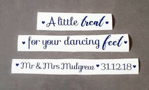 657c6aee59ce92 A Little Treat Your Dancing Feet Personalised Sticker for Wedding Box ...